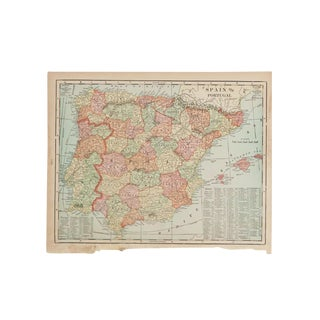 Cram's 1907 Map of Spain For Sale