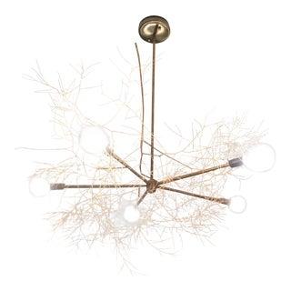 Organic Modern Brass Tumbleweed Chandelier For Sale