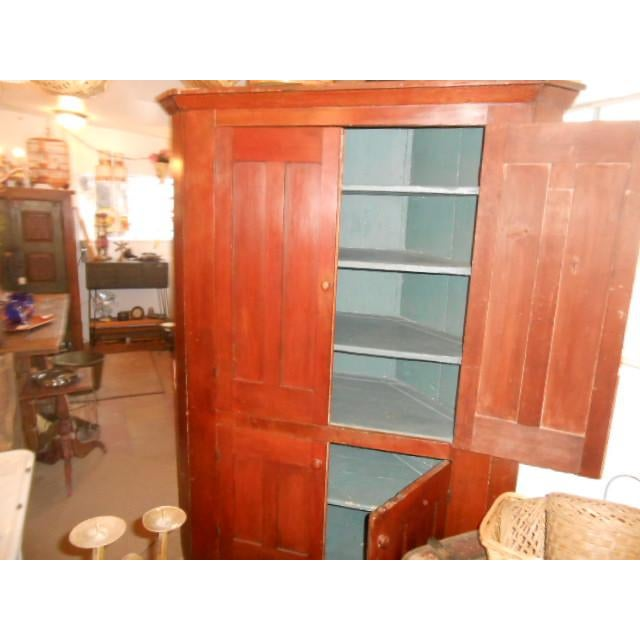 19th Century Early American Corner Cupboard For Sale - Image 9 of 11