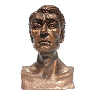 Cezanne Reesor Male Figure Bust Sculpture For Sale