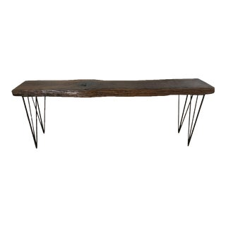 Rustic Modern Live Edge Console Table