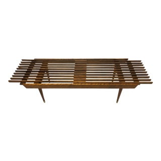 Vintage Modern Expanding Slat Coffee Table/ Bench
