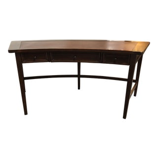 Stanley Furniture Curved Wood Leather Top Writing Desk