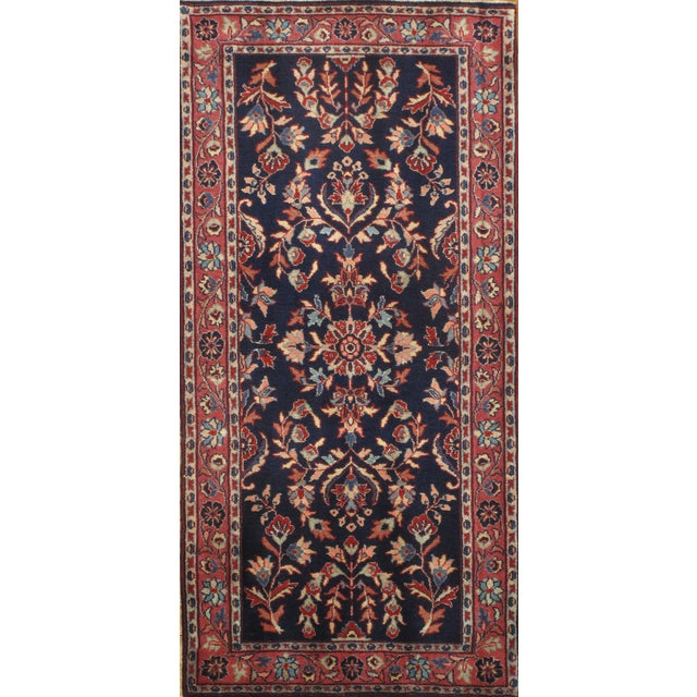 "Pasargad Hand-Knotted Red Saruk Rug - 2'3"" X 4'6"" - Image 1 of 2"