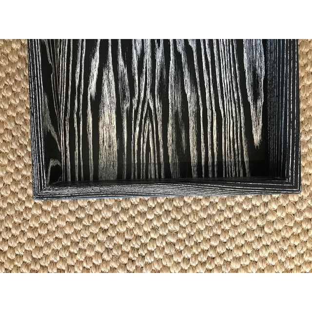Rustic Black/White Solid Wood Tray For Sale - Image 3 of 9