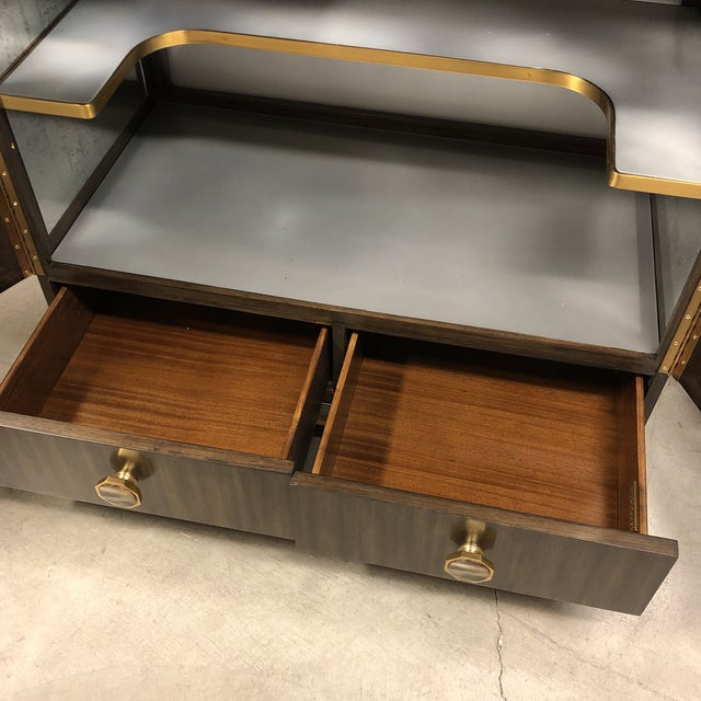 New Henredon Barclay Street Bar Cabinet For Sale - Image 10 of 13