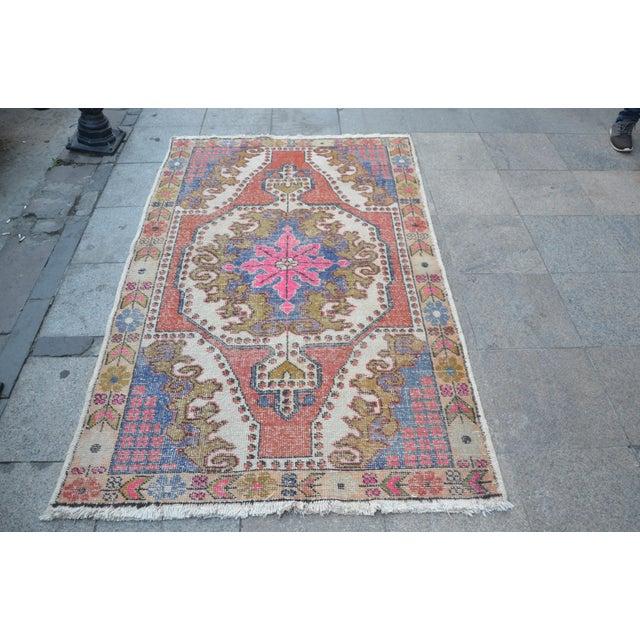 Oushak Anatolian Carpet - 4′5″ × 6′10″ - Image 2 of 6