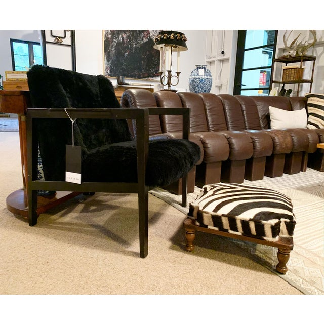 Vintage Footstools Restored in Zebra Hide - Pair For Sale In Saint Louis - Image 6 of 7