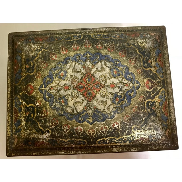 Vintage Heinz Boho Chic Persian Style Biscuit Litho Tin For Sale In Saint Louis - Image 6 of 11