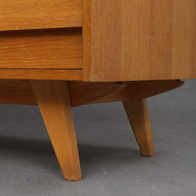 Yellow 1960s Mid-Century Modern Jiri Jiroutek for Interier Praha 8-Drawers Oak Chest For Sale - Image 8 of 9