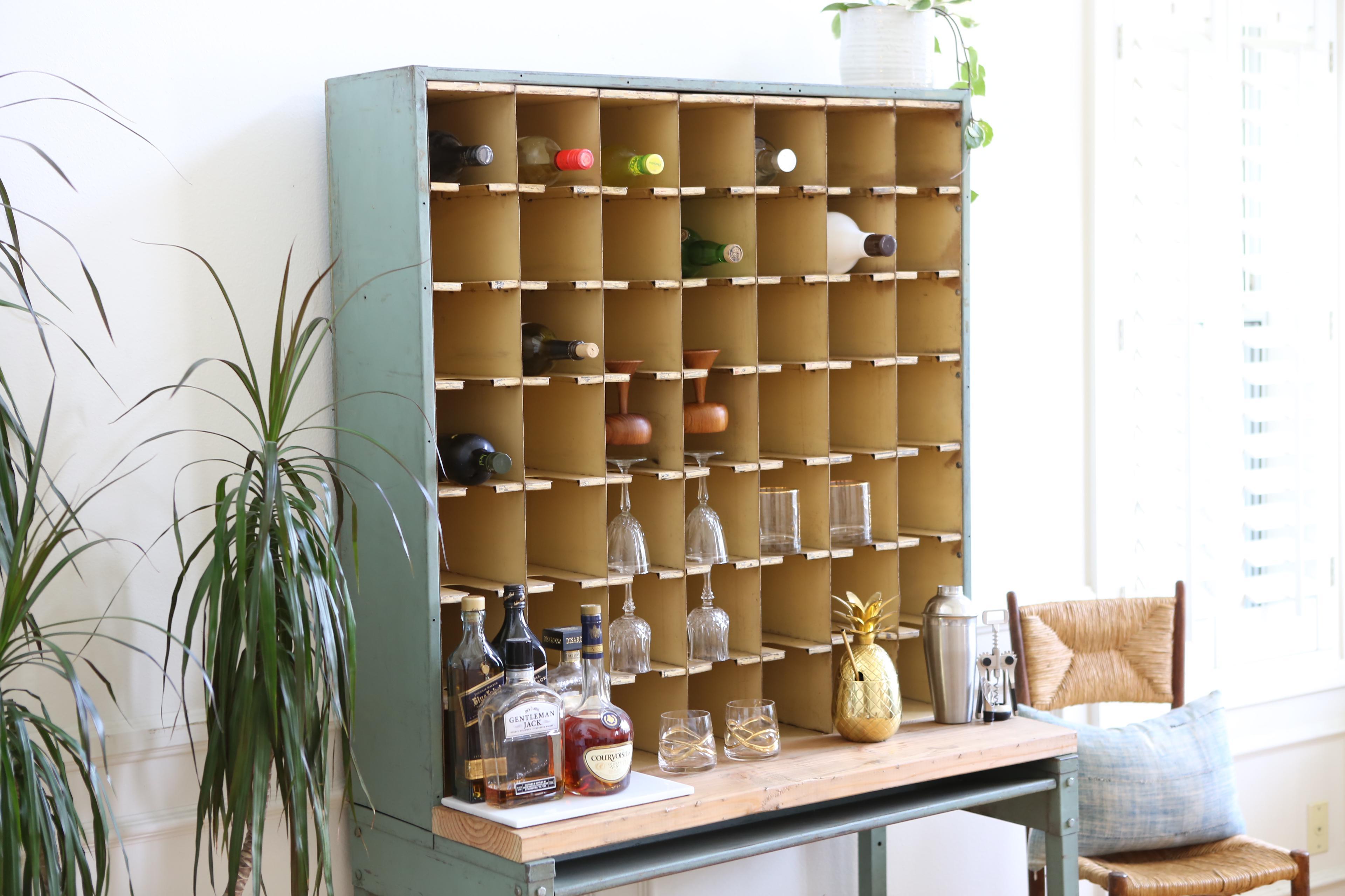 Attrayant Vintage Industrial Mail Sorter Bar Shelf / Cabinet Desk   Image 5 Of 7