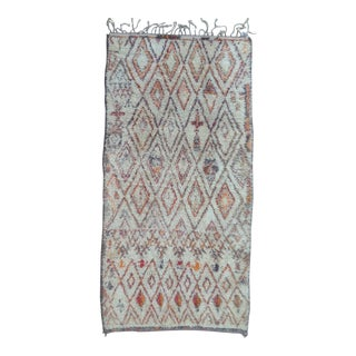 1980s Beni Ourain Rug- 5′10″ × 11′6″ For Sale