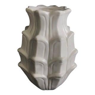 Art Deco Blanc De Chine White Glaze Modern Ceramic Vase