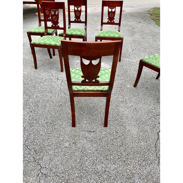 1910s French Empire Solid Mahogany Dining Chairs - Set of 6 For Sale - Image 12 of 13