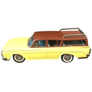 Bandai Japan 1961 Nash Rambler Tin Toy Car