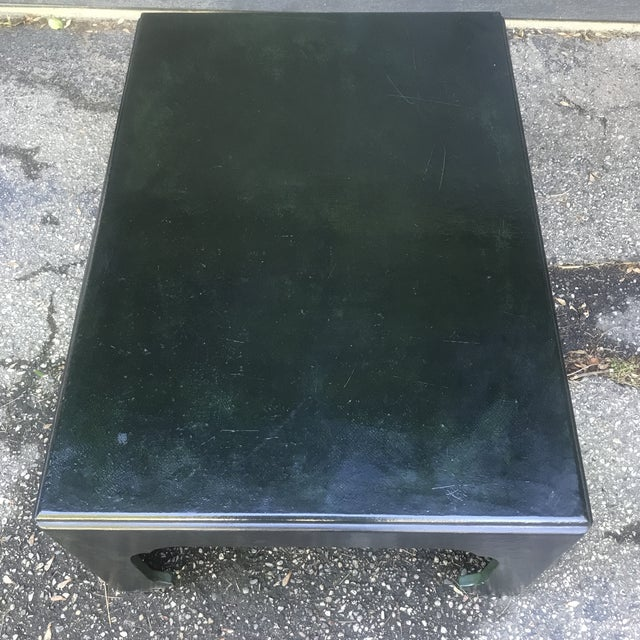 Paint Chinoiserie Green Painted Coffee Table by Baker Furniture For Sale - Image 7 of 10
