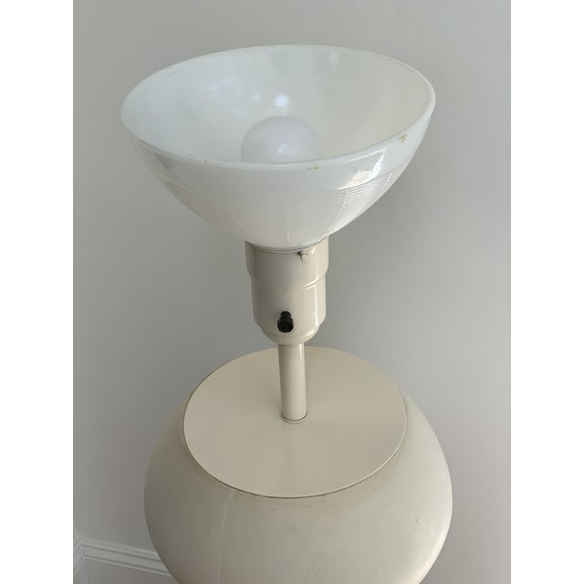 1980s Matte White Plaster Table Lamp by Michael Taylor For Sale In San Francisco - Image 6 of 13