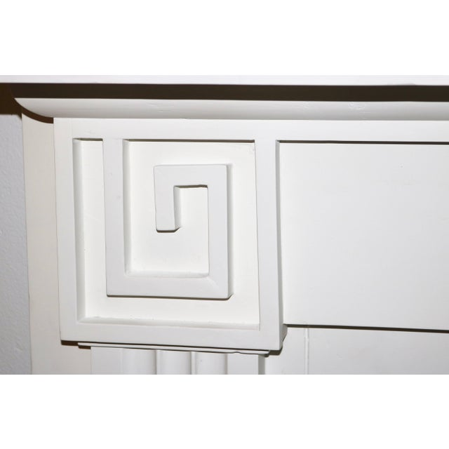 Restored 19th C. Greek Revival White Primed Fireplace Mantel Mantle For Sale - Image 9 of 11