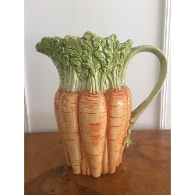 Fitz and Floyd Vintage Fitz and Floyd Carrot Pitcher For Sale - Image 4 of 8