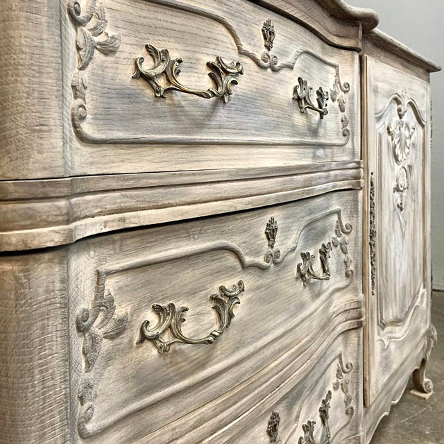 Antique French Louis XV Whitewashed Buffet For Sale - Image 11 of 13