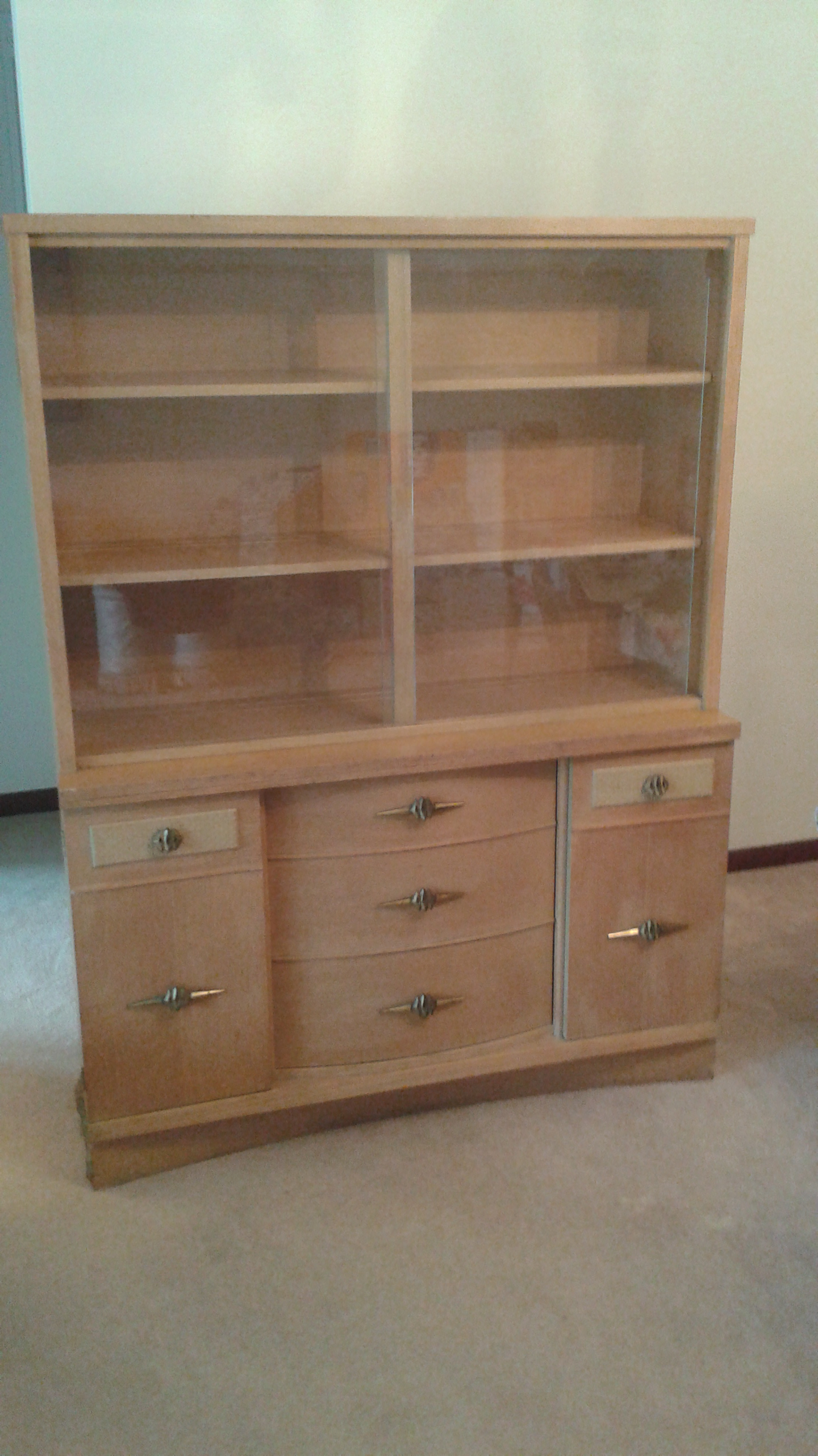 Stanley Mid Century Modern China Cabinet   Image 2 Of 10
