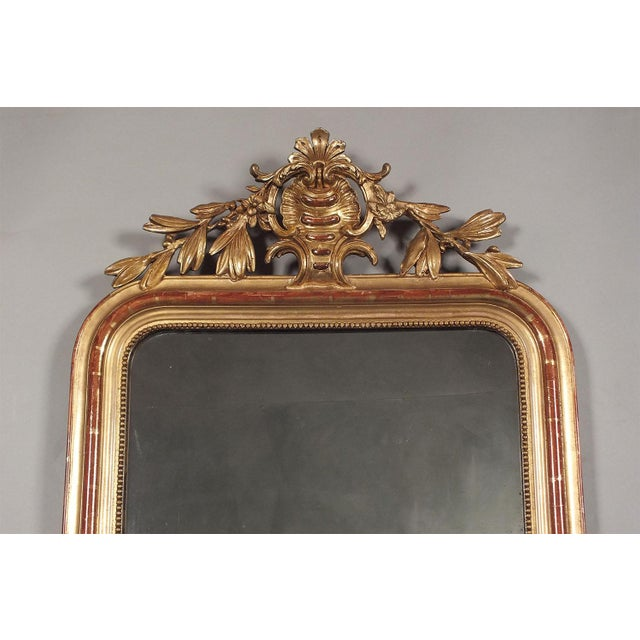 Antique French Louis XVI Giltwood Mirror - Image 4 of 10