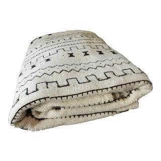Lg Black & White Blanket Mali Mud Cloth Textile