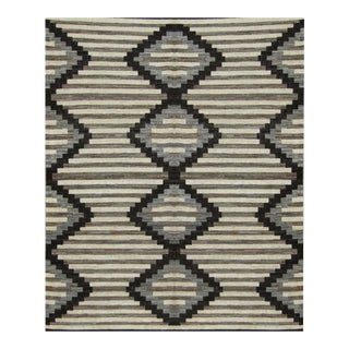 """Hand Knotted Ikat Rug - 10'7"""" X 14'1"""" For Sale"""