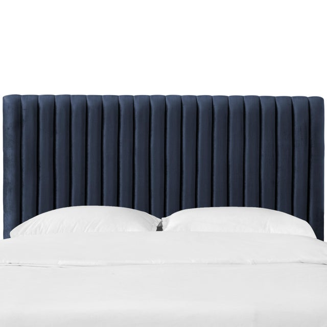 King Channel Headboard in Majestic Navy For Sale In Chicago - Image 6 of 6
