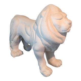 Mid-Century Modern Porcelain Lion Figure