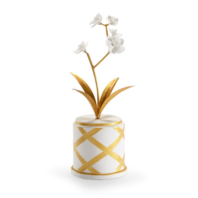 Contemporary Chelsea House Inc Flower Accent Figurine For Sale - Image 3 of 3