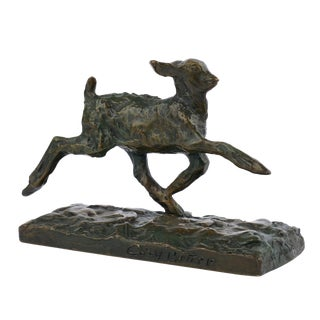 """Chevreau Courant"" French Modernism Bronze Sculpture by Ary Bitter & Susse Freres For Sale"