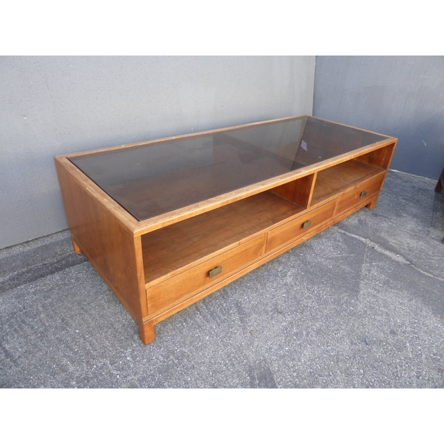 Vintage Danish Mid Century Modern Walnut Coffee & End Table - Set of 2 For Sale - Image 11 of 13