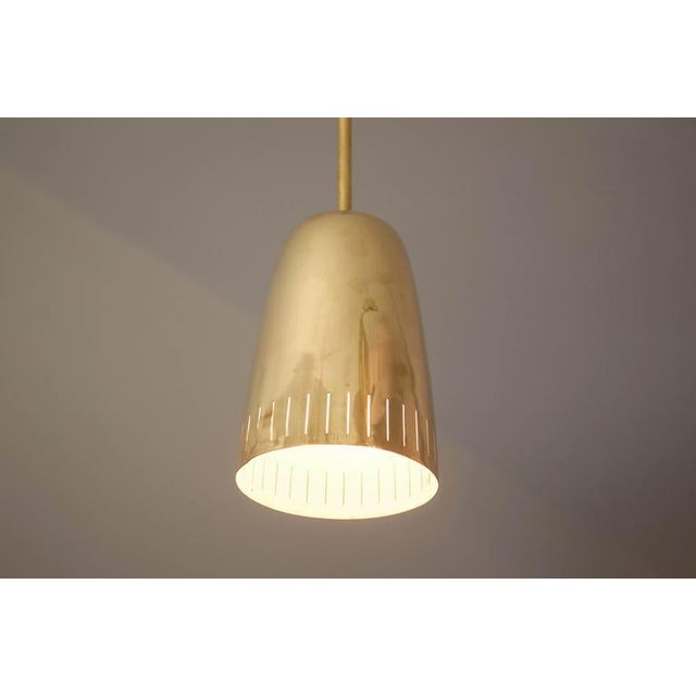 Gold Mid-Century Brass Hanging Lamp from Kalmar Vienna For Sale - Image 8 of 9