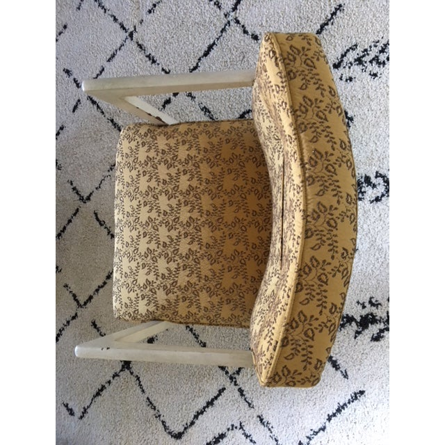 Fabric Vintage Mid-Century Upholstered Arm Chair For Sale - Image 7 of 8