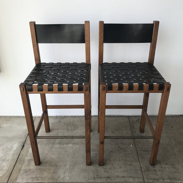 Glenn of California Barstools - a Pair For Sale - Image 10 of 10