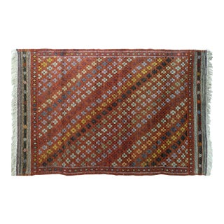 "19th Century Antique Turkish Kilim Rug-5'1'x7'11"" For Sale"