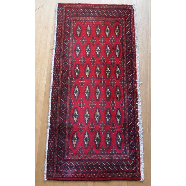 Very charming hand made Turkoman Tekke rug with classic design. Beautiful cadmium deep red color and well detailed design....