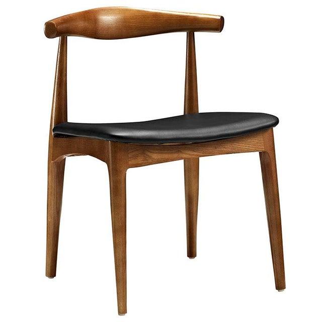 Mid-Century Modern Style Wood and Leatherette Wishbone ...