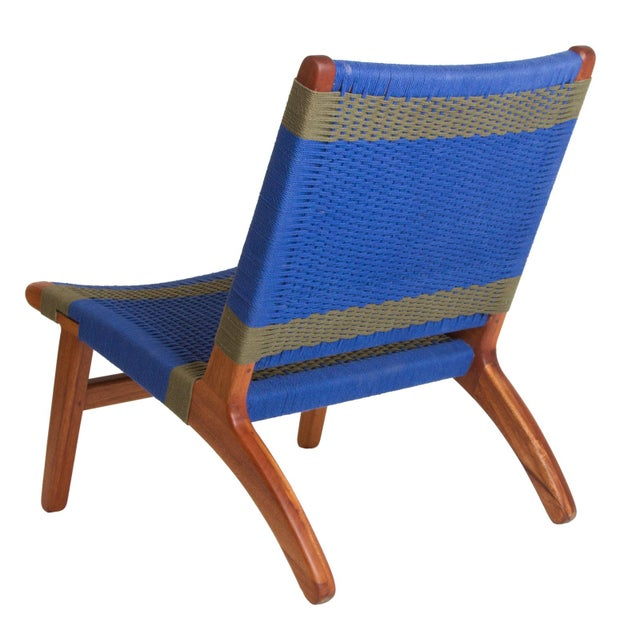 Blue & Gray Woven Lounge Chair - Image 3 of 3