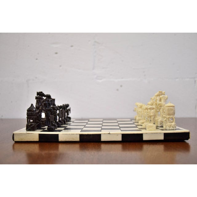 1930 Belgian Congo Ivory Chess Set For Sale - Image 9 of 10