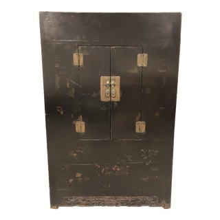 Antique Chinese Wedding Lacquer Cabinet From Gumps For Sale