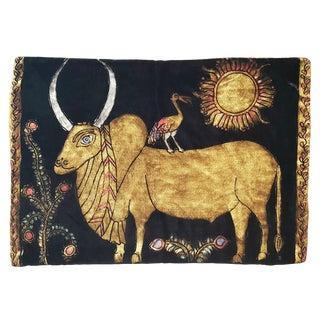 Ox Silk Velvet Pillow For Sale