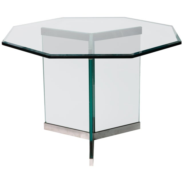Leon Rosen Classic Design Chrome Base Dining Table for Pace Collection For Sale - Image 11 of 11