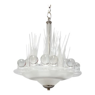Small Modern Art Glass Light Fixture