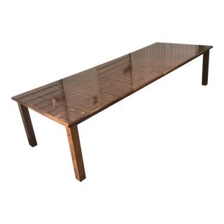 Mid-Century Parsons Style Expandable Dining Table