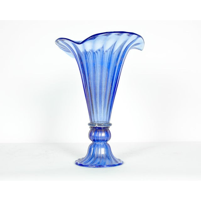 Very tall vintage Murano glass decorative piece / vase. In excellent condition. The piece measure 16 inches high x 13...