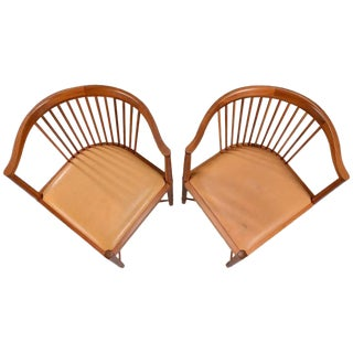 Børge Mogensen Mahogany Chairs for Søborg Møbelfabrik, 1940s - A Pair For Sale