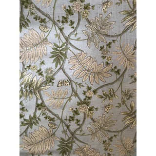 Cowtan & Tout Fontanges Sky Linen Fabric - 8 6/8 Yards For Sale