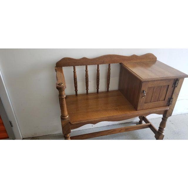 Vintage Telephone Desk For Sale - Image 9 of 12